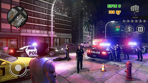 Screenshots von Clash of crime: Mad city war go für Android-Tablet, Smartphone.