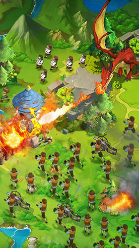 Capturas de pantalla de Clash of kings 2: Rise of dragons para tabletas y teléfonos Android.