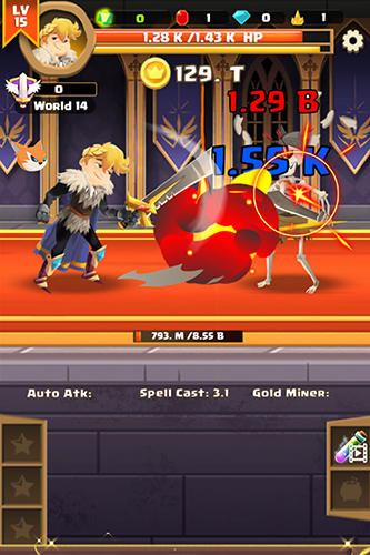 Clicker knight: Incremental idle RPG screenshot 2