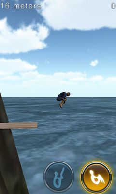 Kostenloses Android-Game Klippenspringen 3D. Vollversion der Android-apk-App Hirschjäger: Die Cliff Diving 3D für Tablets und Telefone.