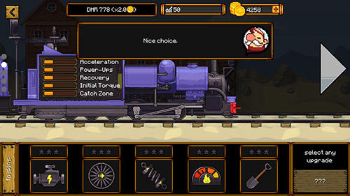 Coal burnout: Race the steam! für Android spielen. Spiel Kohlenbrand> Dampfrennen kostenloser Download.