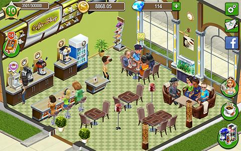 Kostenloses Android-Game Kaffee Shop: Café Business Simulator. Vollversion der Android-apk-App Hirschjäger: Die Coffee shop: Cafe business sim für Tablets und Telefone.