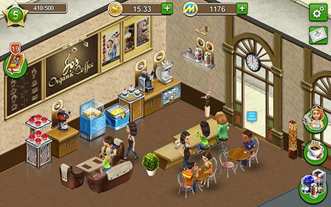 Screenshots do Coffee shop: Cafe business sim - Perigoso para tablet e celular Android.