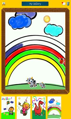 Screenshots of the Color & Draw For Kids for Android tablet, phone.
