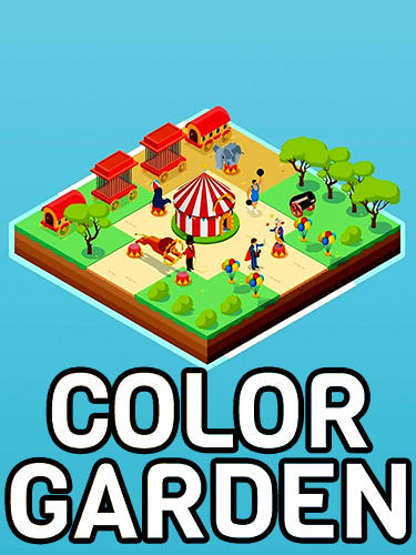 Color garden: Build by number poster