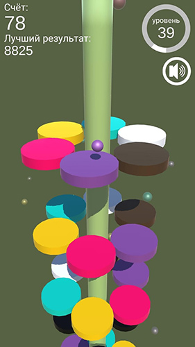 Screenshots von Color jumper: On the helix für Android-Tablet, Smartphone.