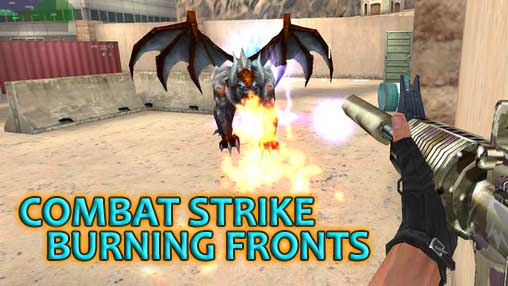 Combat strike:Burning fronts poster
