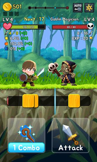 Screenshots of the Combo heroes for Android tablet, phone.