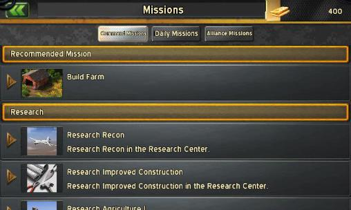 Screenshots von Commanders für Android-Tablet, Smartphone.