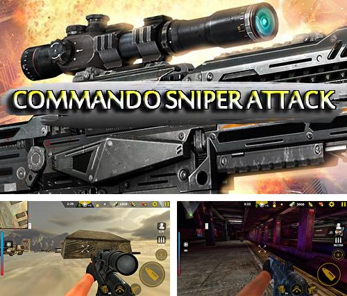 Commando sniper attack: Modern gun shooting war