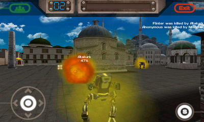 Screenshots do Conflict Robots - Perigoso para tablet e celular Android.