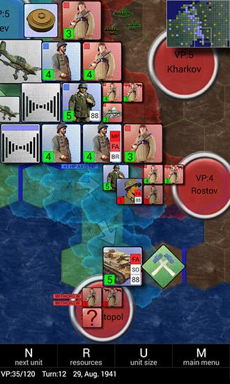 Conflicts: Operation Barbarossa für Android spielen. Spiel Konflikte: Operation Barbarossa kostenloser Download.