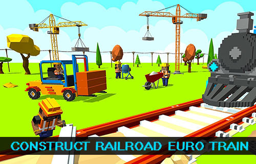 Construct railroad euro train