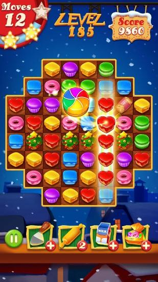 Screenshots von Cookie blast: Christmas für Android-Tablet, Smartphone.