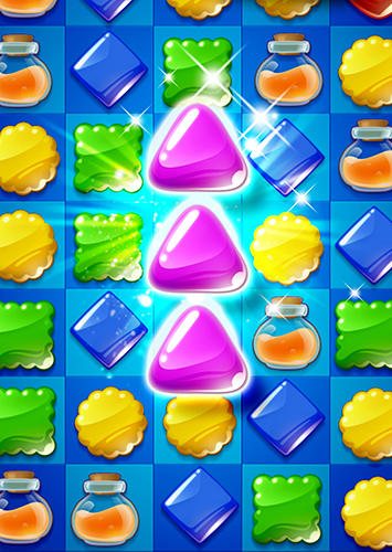 Screenshots von Cookie mania: Sweet match 3 puzzle für Android-Tablet, Smartphone.