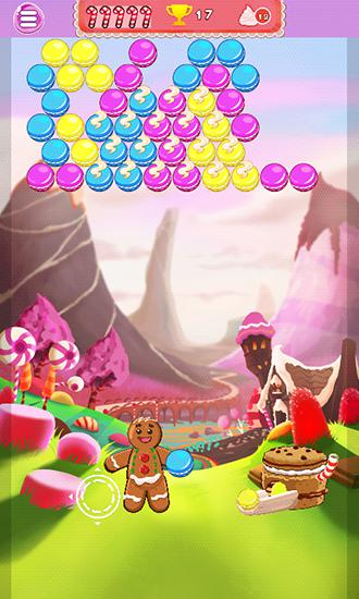 Kostenloses Android-Game Coocie Pop: Buuble Shooter. Vollversion der Android-apk-App Hirschjäger: Die Cookie pop: Bubble shooter für Tablets und Telefone.