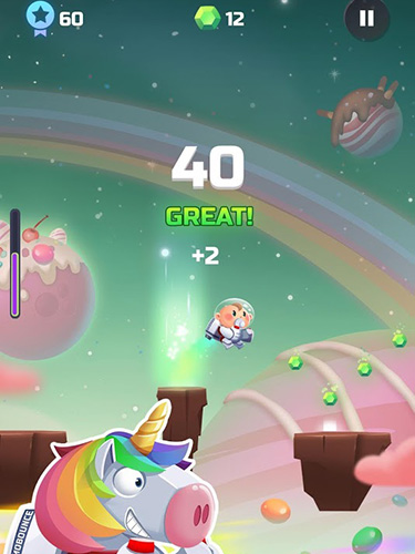 Screenshots von Cosmo bounce: The craziest space rush ever! für Android-Tablet, Smartphone.
