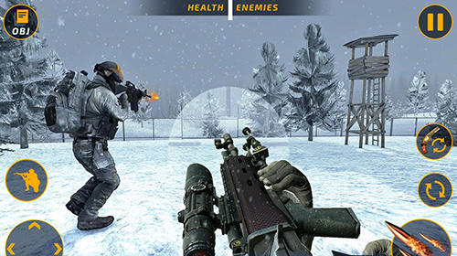 安卓平板、手机Counter terrorist battleground: FPS shooting game截图。