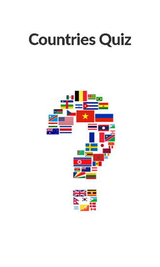 Countries quiz poster