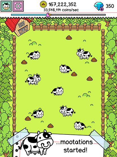 Capturas de pantalla de Cow evolution: The mootation para tabletas y teléfonos Android.