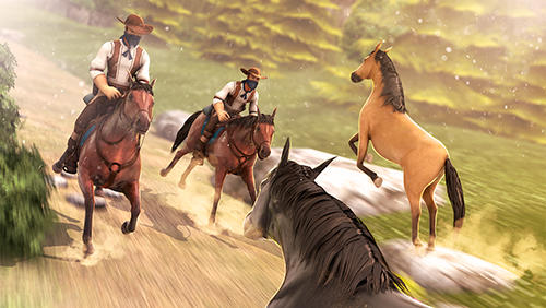 Screenshots von Cowboys horse racing field für Android-Tablet, Smartphone.