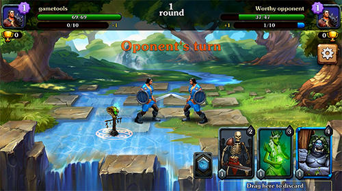 Screenshots do Cradle of magic: Card game, battle arena, rpg - Perigoso para tablet e celular Android.