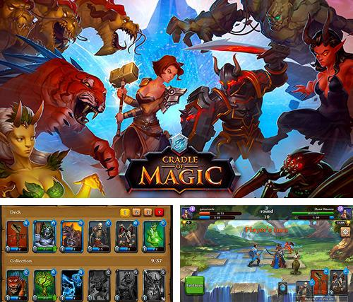 Zusätzlich zum Spiel Dreifache Herzen für Android-Telefone und Tablets können Sie auch kostenlos Cradle of magic: Card game, battle arena, rpg, Wiege der Magie: Kartenspiel, Kampfarena, RPG herunterladen.