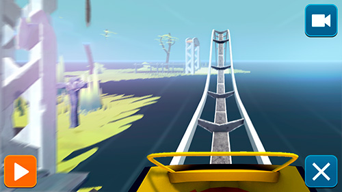 Screenshots do Craft and ride: Roller coaster builder - Perigoso para tablet e celular Android.