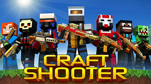 Craft shooter online: Guns of pixel shooting games poster