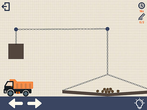 Screenshots von Crayon physics with truck für Android-Tablet, Smartphone.