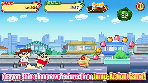 Kostenloses Android-Game Buntstift Shin-Chan: Rufe den Sturm! Lodernder Kasukabe Läufer!!. Vollversion der Android-apk-App Hirschjäger: Die Crayon Shin-chan: Storm called! Flaming Kasukabe runner!! für Tablets und Telefone.