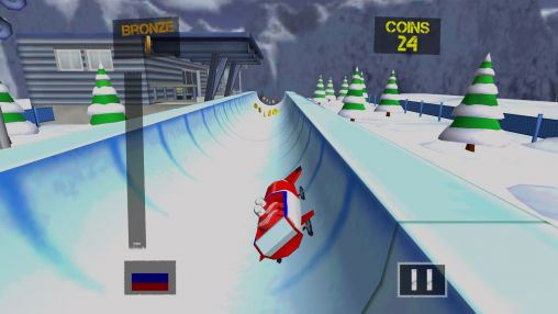 Crazy bobsleigh: Sochi 2014 screenshot 2