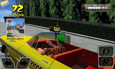Screenshots of the Crazy Taxi for Android tablet, phone.