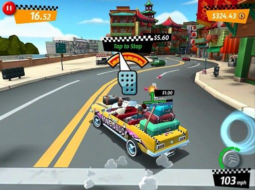 Kostenloses Android-Game Crazy Taxi: City Rush. Vollversion der Android-apk-App Hirschjäger: Die Crazy taxi: City rush für Tablets und Telefone.