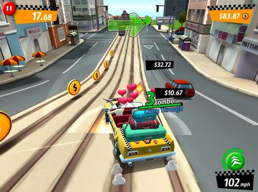 Crazy taxi: City rush für Android spielen. Spiel Crazy Taxi: City Rush kostenloser Download.