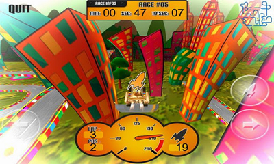 Download CrazyKartOON Android free game.