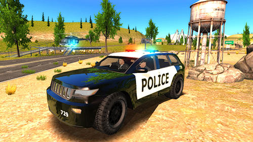 Crime city police car driver скриншот 5