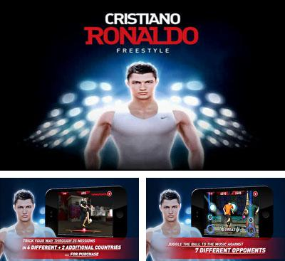 Ipod touch and iphone template: cristiano ronaldo freestyle soccer.
