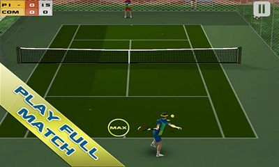 Screenshots of the Cross Court Tennis for Android tablet, phone.