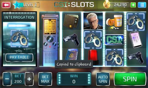Screenshots do CSI: Slots - Perigoso para tablet e celular Android.