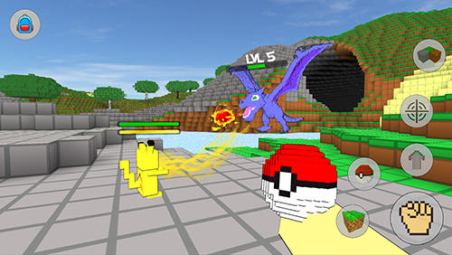 Cube craft go: Pixelmon battle screenshot 3