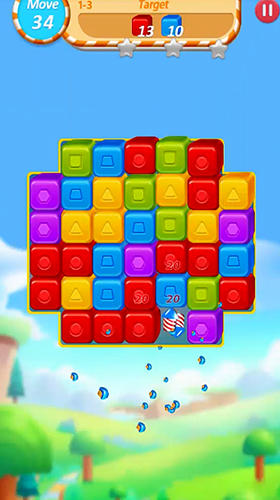 Jouer à Cube crush: Collapse and blast game pour Android. Téléchargement gratuit de Destruction des cubes: Collapsus et explosion.