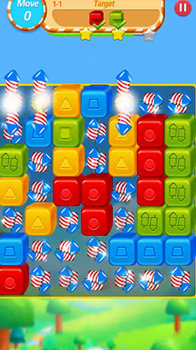 Écrans de Cube crush: Collapse and blast game pour tablette et téléphone Android.