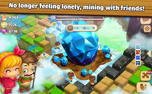 Screenshots von Cube skyland: Farm craft für Android-Tablet, Smartphone.