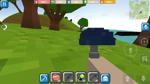 Capturas de pantalla de Cube craft go: Pixelmon battle para tabletas y teléfonos Android.