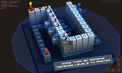 Screenshots of the Cubemen for Android tablet, phone.
