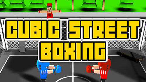 Cubic street boxing 3D poster