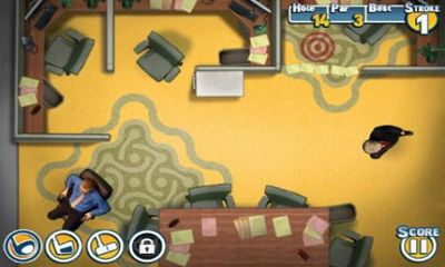 Screenshots of the Cubicle Golf for Android tablet, phone.