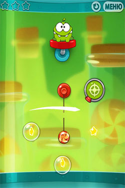 Cut the Rope: Experiments für Android spielen. Spiel Cut the Rope: Experimente kostenloser Download.