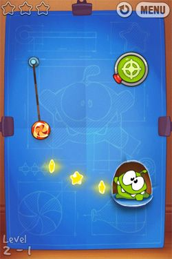 Screenshots von Cut the Rope: Experiments für Android-Tablet, Smartphone.